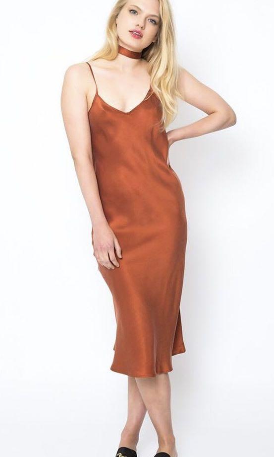 Silk Laundry Slip Dress