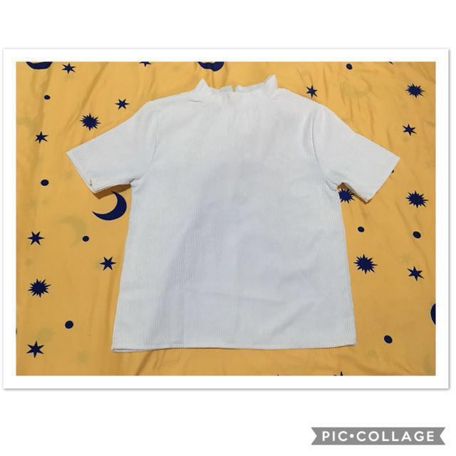 S-M Corduroy White Top