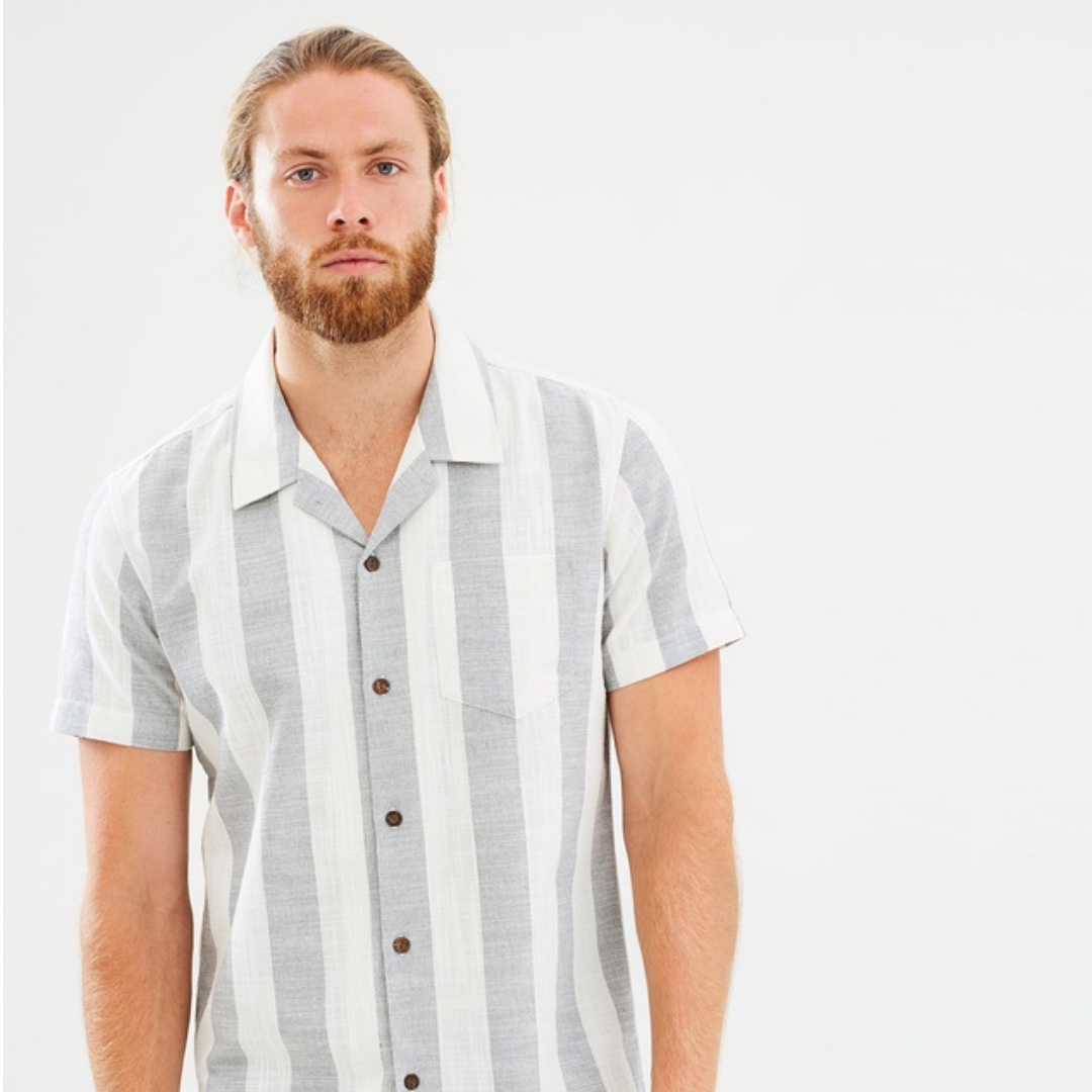 Staple Superior Panama Shirt Stripe The Iconic Large L