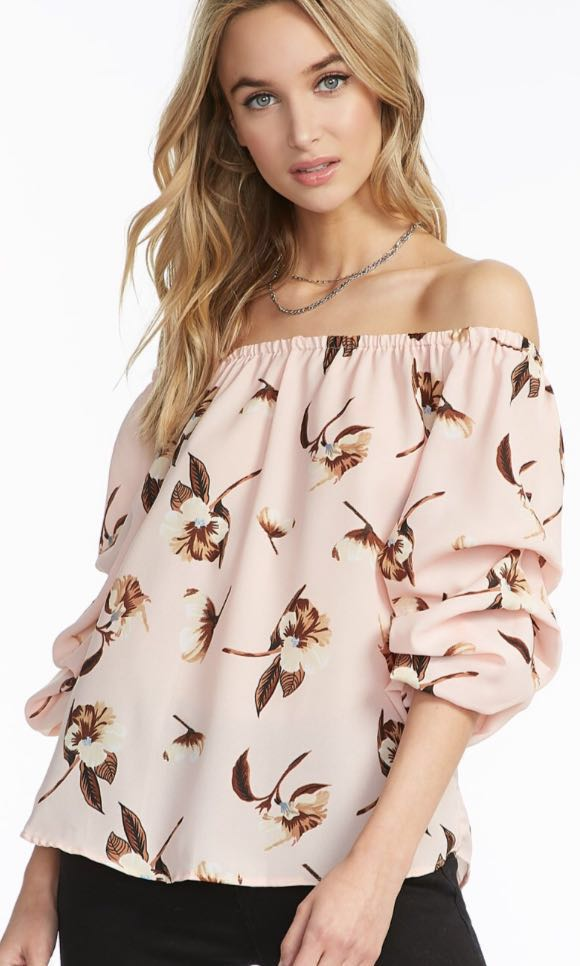 Statement Sleeve Floral Blouse