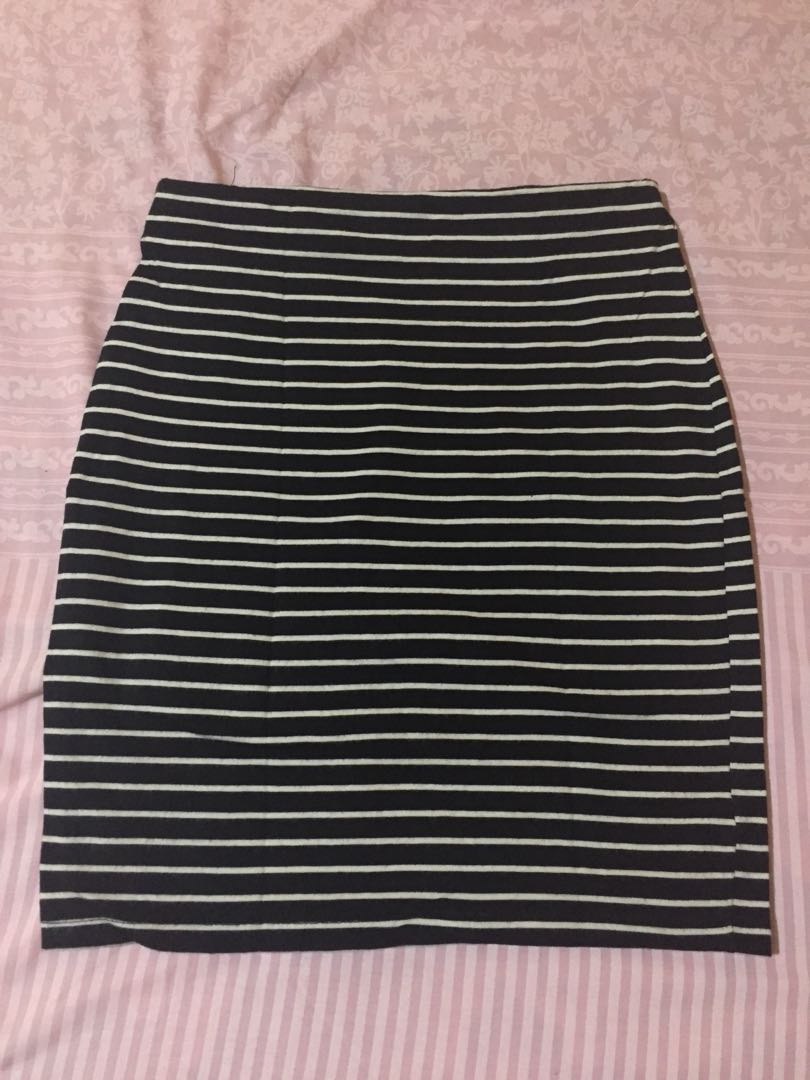 STRIPE MINI SKIRT/ROK NEW LOOK