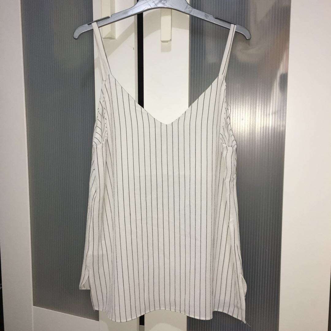 Striped V neck Cami