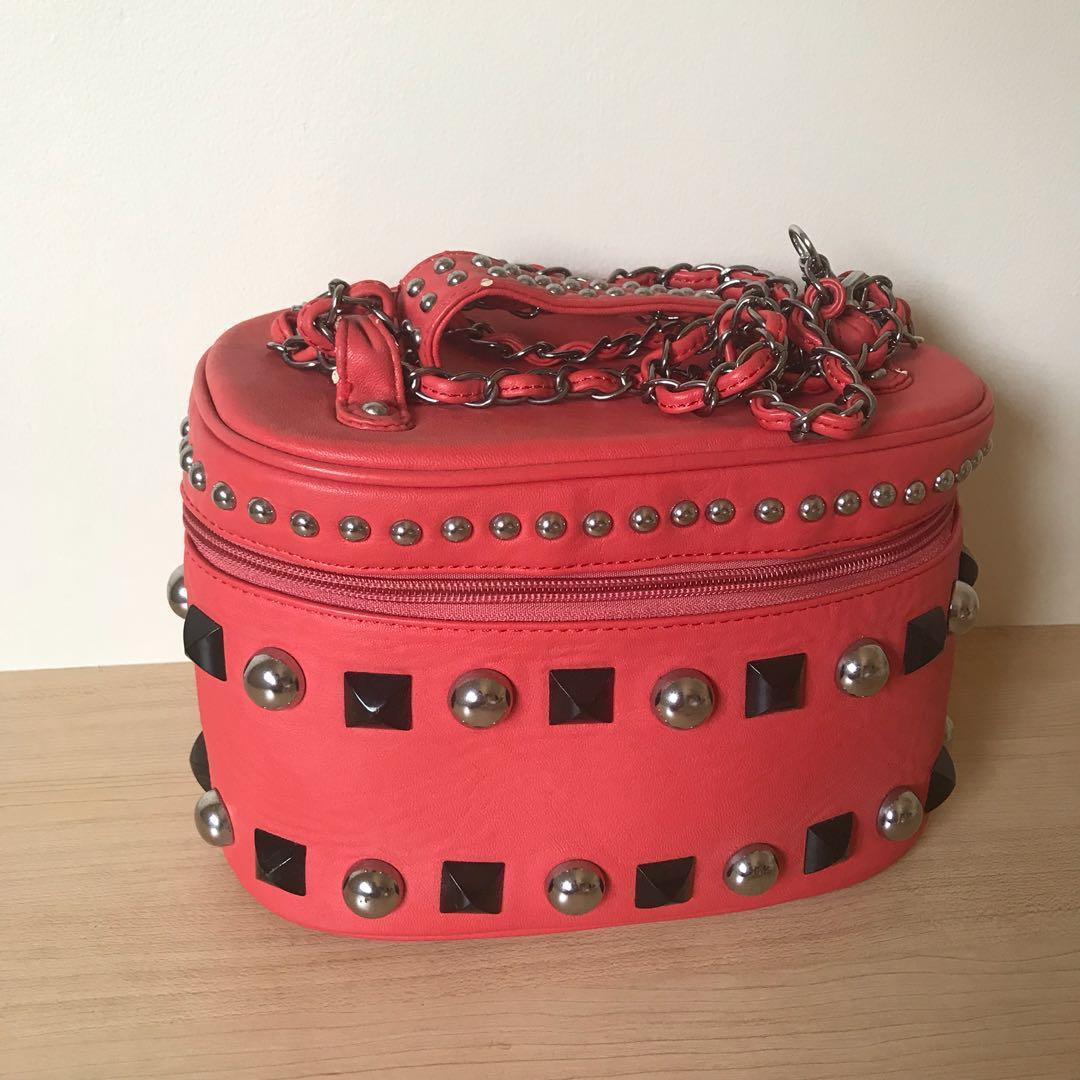 Studded Cosmetic purse case