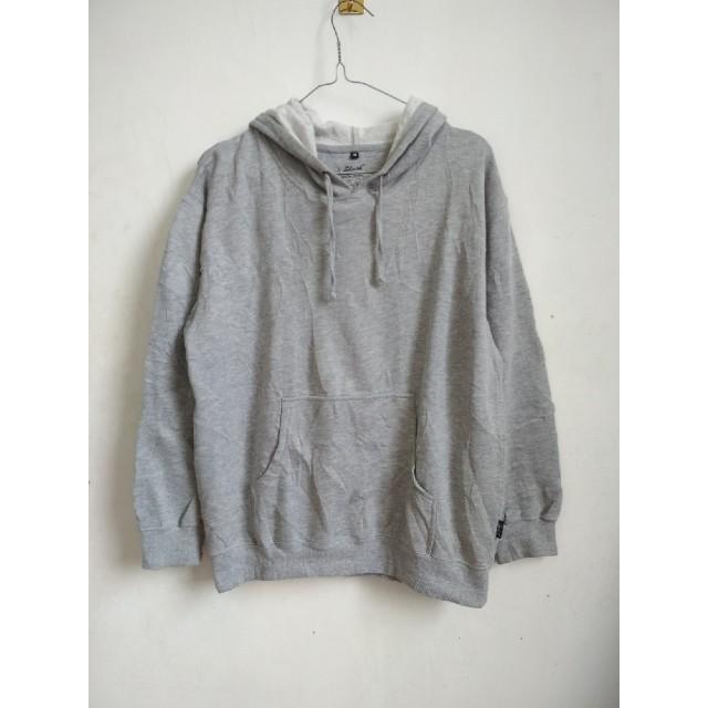 Sweater Hoodie Grey Ori Brand Luar