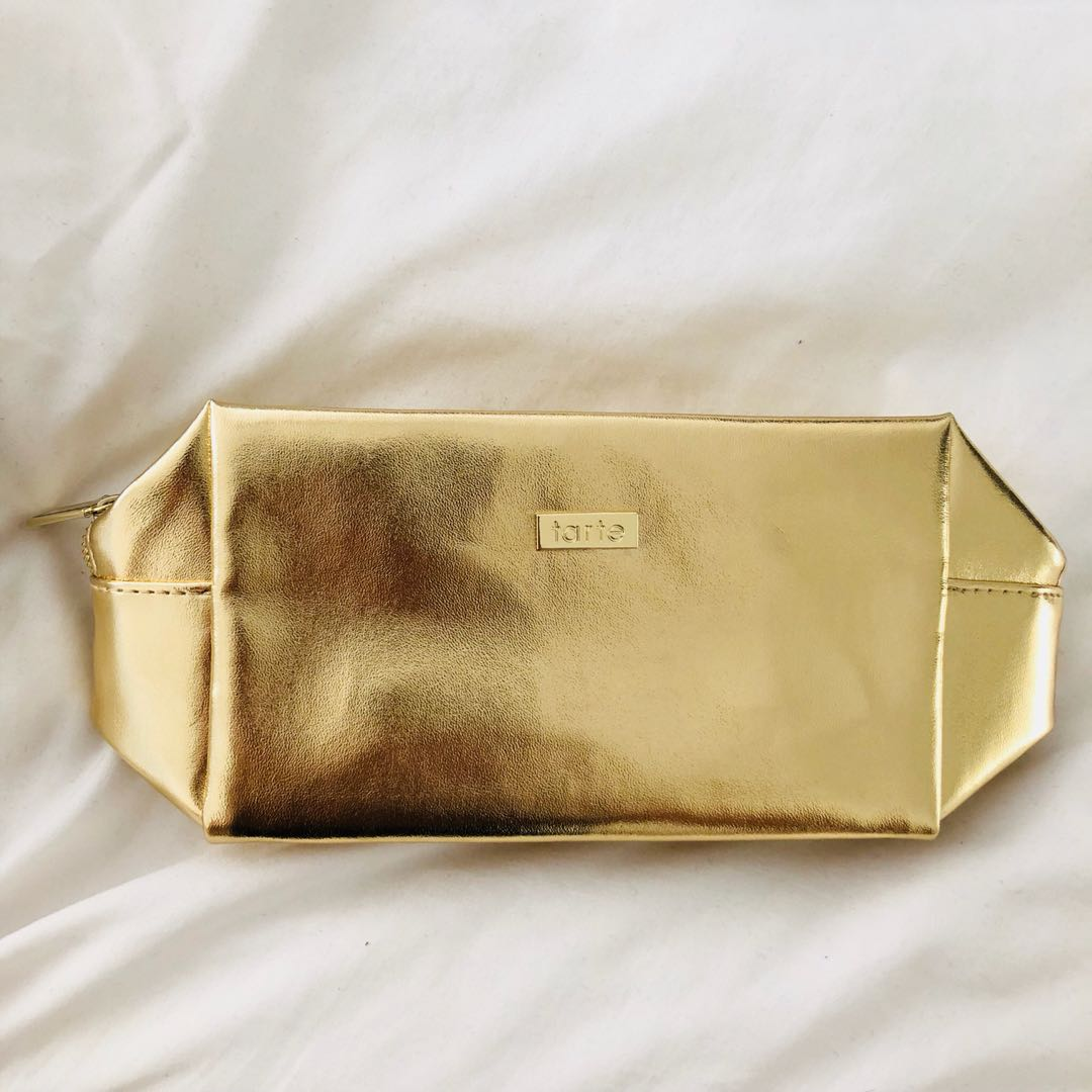 Tarte Gold Make up Bag / Pouch