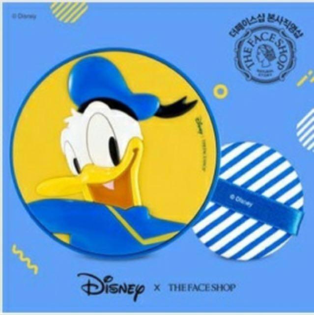 (現貨)The face shop X Disney 迪士尼系列唐老鴨款三效BB氣墊粉餅