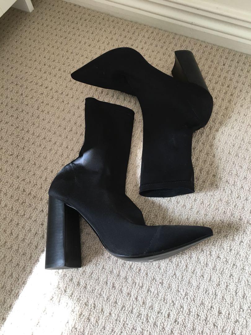 Tony Bianco DIDDY Black Lycra boots