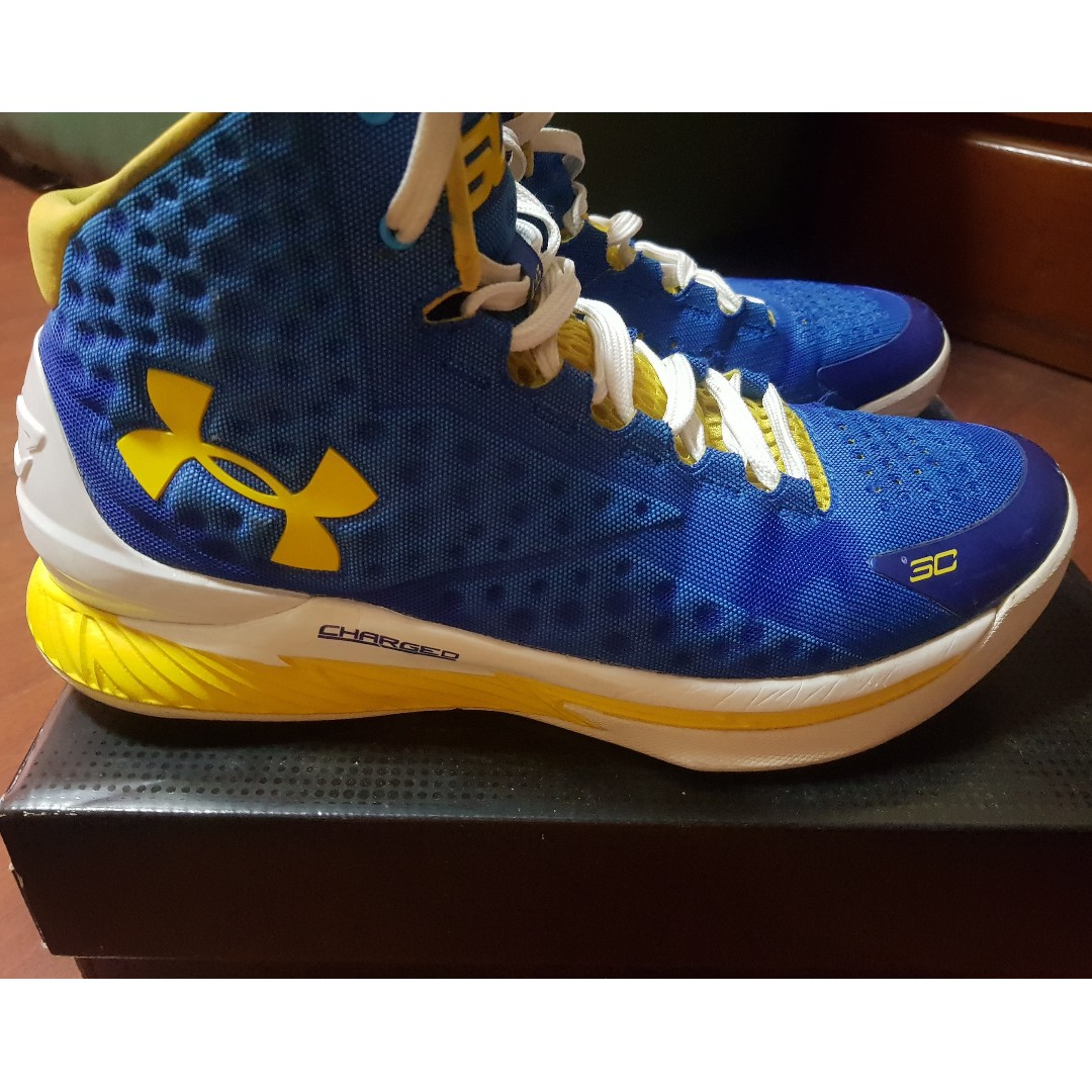 Under Armour Curry 1 (size 10 blue-yellow) not nike adidas