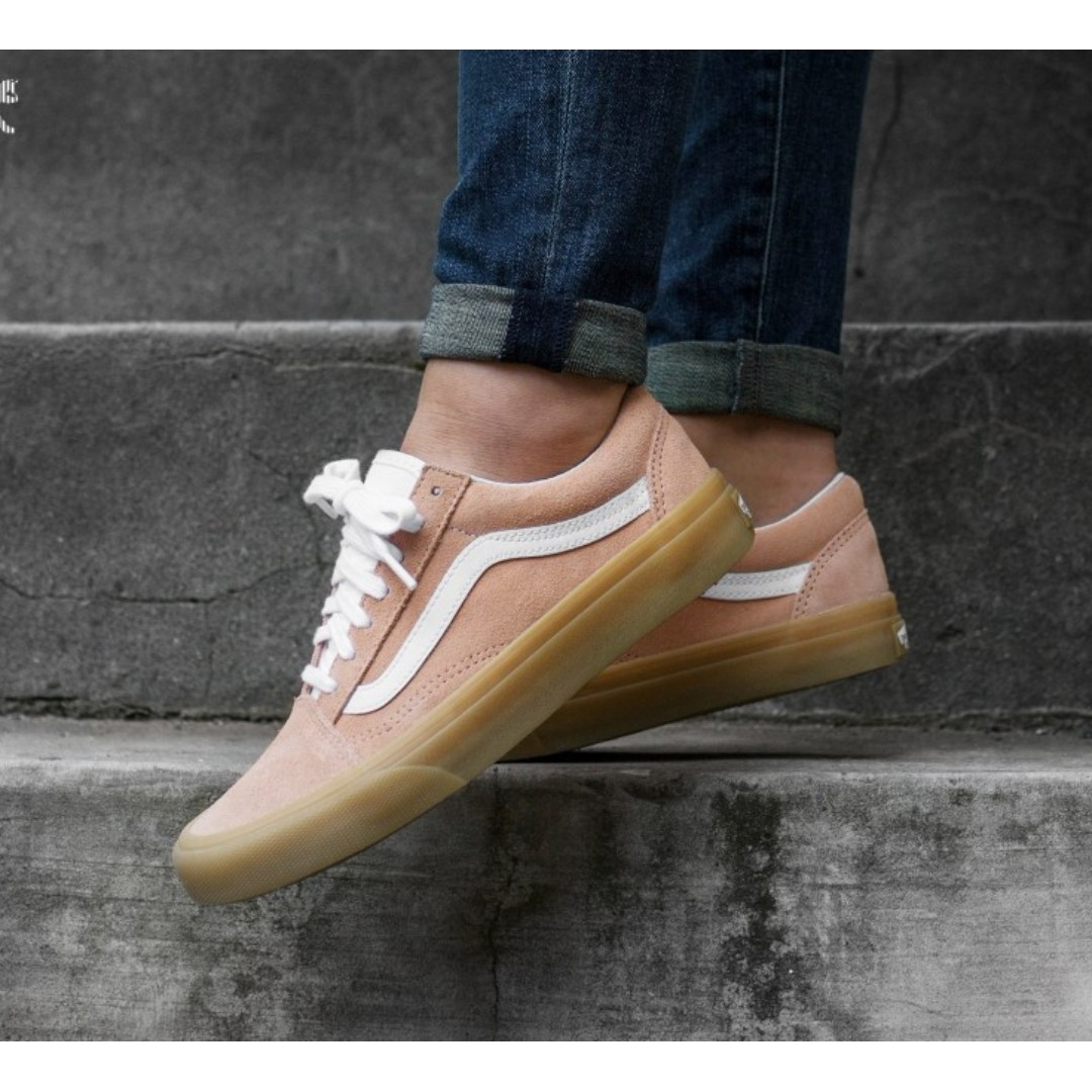 636c55ec47 VANS OLD SKOOL SHOES – (DOUBLE LIGHT GUM) CHALK PINK