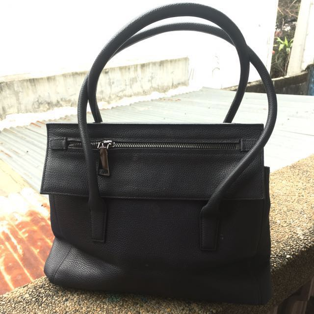 Vera Wang Pebbled Bag (Black)