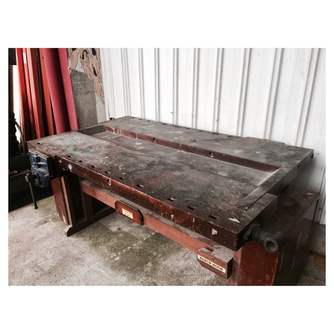 Vintage Workbench Woodworking Furniture Home Decor Antiques On