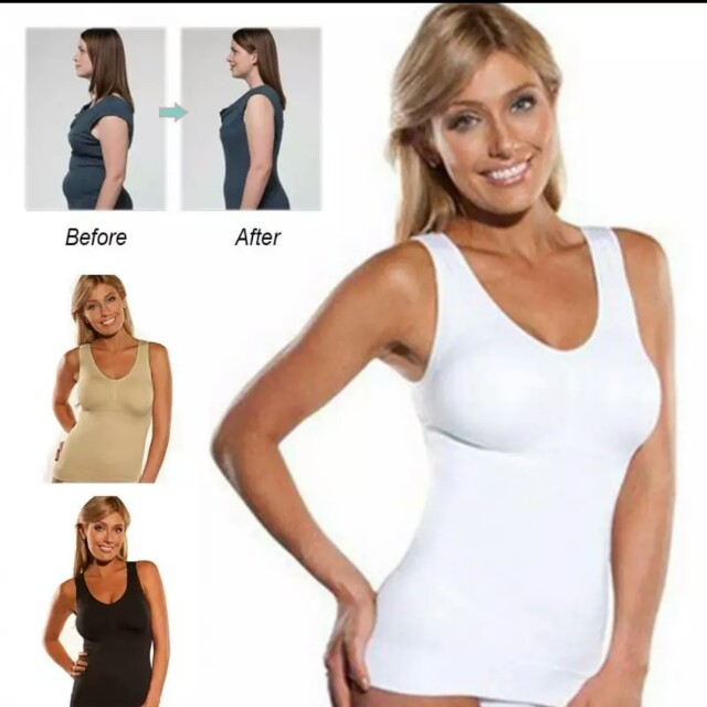 29fb49d5152d0 Women body shaper Plus Size Bra Cami Tank Top Removable Underwear Slimming  Vest Corset Shapewear