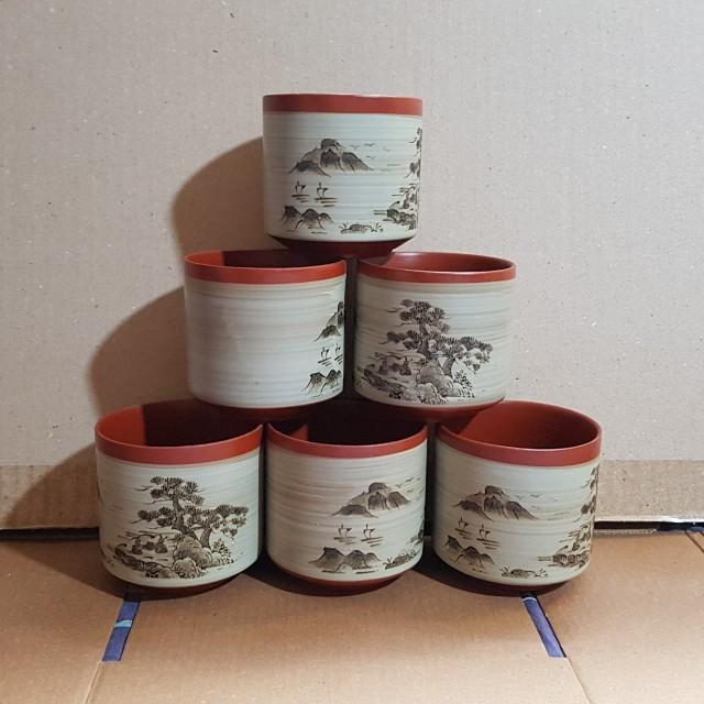 🔴陶瓷茶杯組/內容物X6
