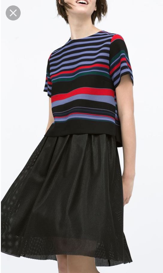 Zara Leather Perforated skirt