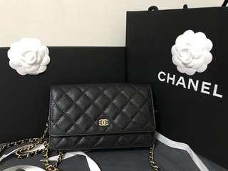 全新Chanel Woc 黑金