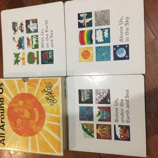 "Pre-loved eric carle ""all around us"" board books set"