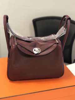 Hermes Lindy 26 Bordeaux Stamp C