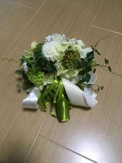 結婚 花球 綠色 森系