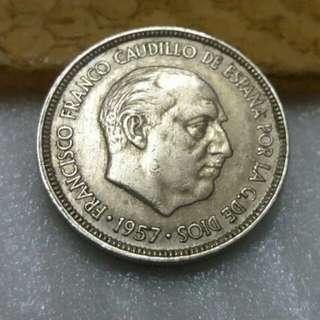 Spain  5ptas Coin