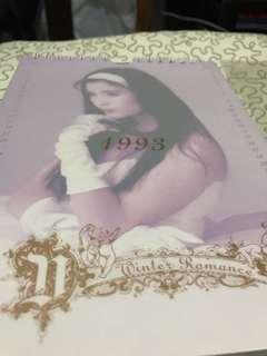 1993年周慧敏月歷A3 size(9成新)無變黃
