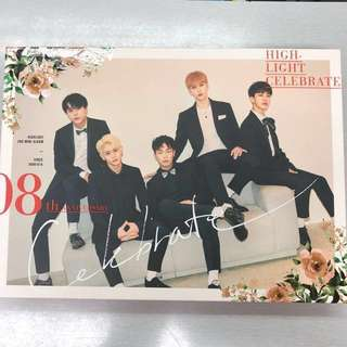 HIGHLIGHT - 2nd MINI ALBUM : CELEBRATE + Free 1 Official Highlight folded poster