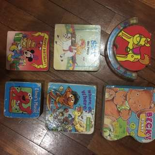 Pre-loved pocket size assorted board books x 6