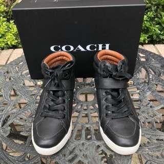 Coach真皮高筒靴