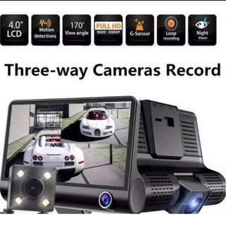 Car Camera recorder (Three Lens-Front+Rear+Inside) Dash cam - Passenger Car Camera Recorder - Dash Cam Car Camera Recorder (Wholesale Price)