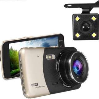 Car camera Dual-Lens (Front & Back)FHD 1080P Car Recorder Dash Cam (4inch Display Screen) Reverse car camera - Car front camera