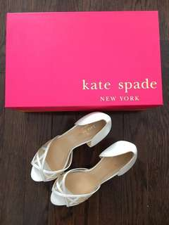 Kate Spade Wedding Heels Size 6 with Box and Dust Bag