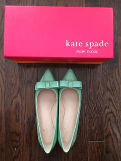 Kate Spade Tiffany Blue Flats New in Box size 6