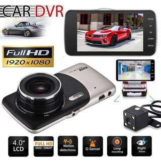 FHD 1080P Dual Lens Car Camera - Car Cam - Car Recorder - Dash Cam - Rear view camera (4inch Screen) Loop-Recording - Vehicle Car Backup camera system