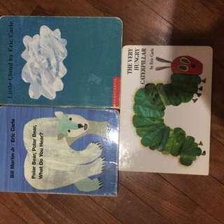 Pre-loved eric carle hardboard books x 3