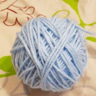 Worsted yarn baby blue