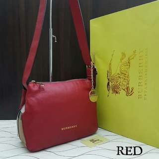 Burberry Small Helmsley Shoulder Bag Red Color