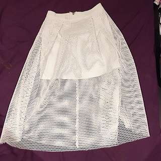 Maxi White Skirt