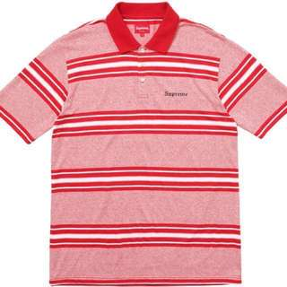Supreme Polo Tee shirt Red Stripe
