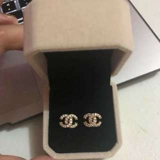 Chanel Inspired Gold Earrings