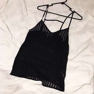 Black Spaghetti Top