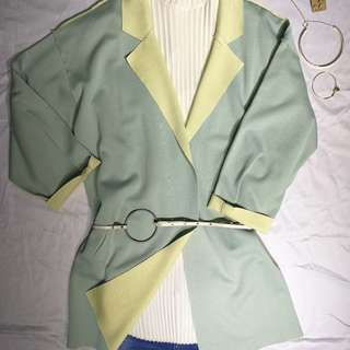 100% New Korean Candy Colour Loose Fit Trench Coat