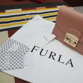 Furla Metropolis in Moonstone 100% Original