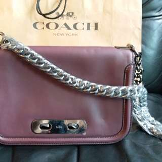 Coach leather bag ~ NEW