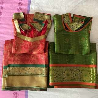 Traditional Indian Costume for girls( Long Skirt with blouse)