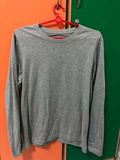 Muji Long sleeve grey shirt