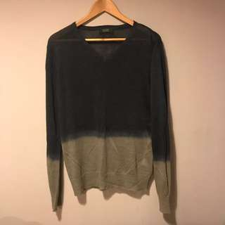 LAST CALL: Zara Men's Gradient Long Sleeve Sweater