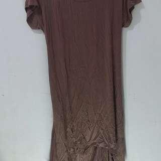 Plus size backless dress