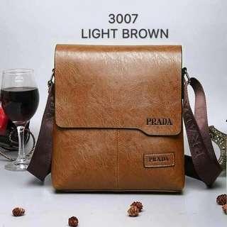 Prada leather sling bag