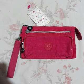 Authentic Kipling long wristlet wallet