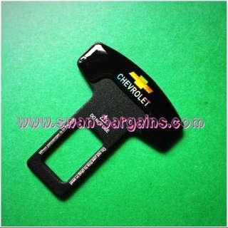 Universal 3D Car Safety Belt Buckle Key Clasp Clip With Reflective Yellow Chevrolet Bow Tie Logo Aveo Spark Cruze Optra Malibu Sonic Orlando Captiva