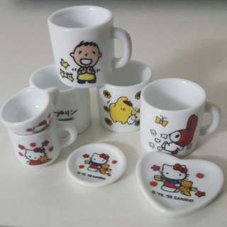 Disney/Sanrio collectible miniature cups